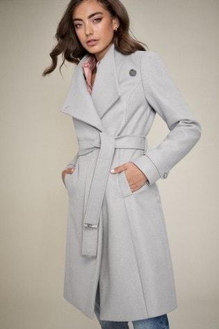 Lipsy Grey Wrap Coat