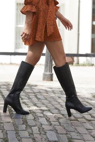 Lipsy Heeled Long Boot