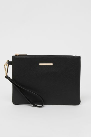 Lipsy Black Pouch Clutch