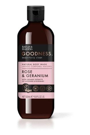 Baylis & Harding Goodness Rose & Geranium 500ml Body Wash