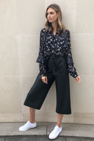 Lipsy Faux Leather Culotte