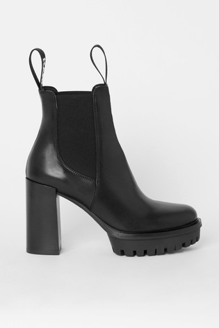 Karl Lagerfeld Voyage Leather Ankle Boot