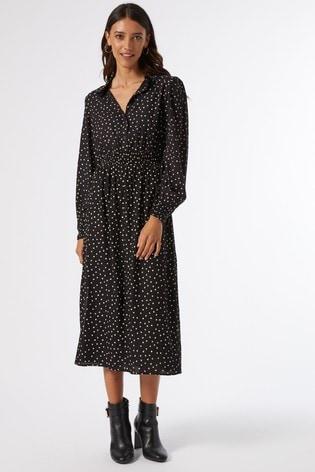 Dorothy Perkins Black Spot Shirt Dress