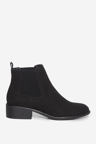 Dorothy Perkins Black PU Maple Chelsea Ankle Boot