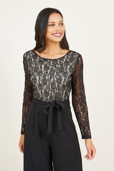 Mela Black Lace Jumpsuit