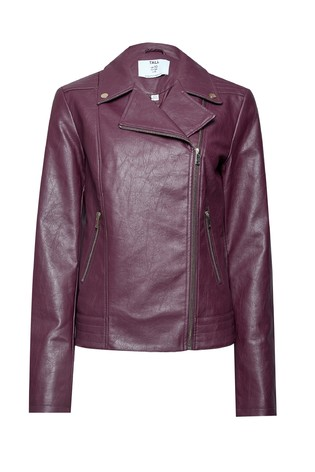 Dorothy Perkins Tall Faux Leather Biker Jacket