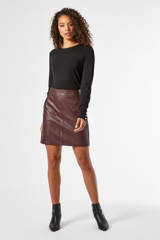 Dorothy Perkins Tall Faux Leather Mini Skirt