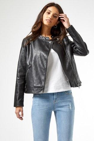 Dorothy Perkins Collarless Biker Jacket