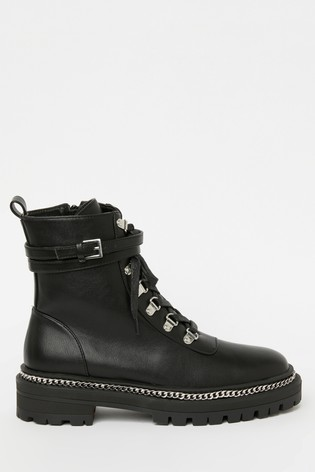 Raid Black Lace Up Ankle Boot