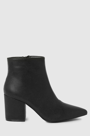 Raid Block Heel Ankle Boot