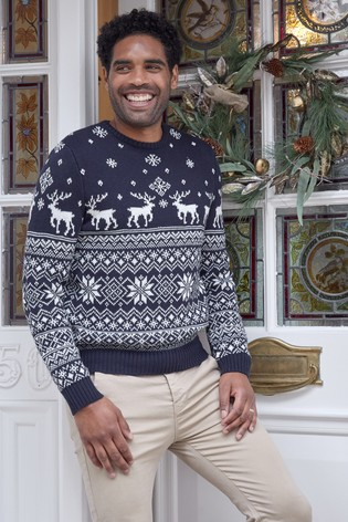 Buy Fashion Union Mens Crew Neck Christmas Jumper From Next Gibraltar