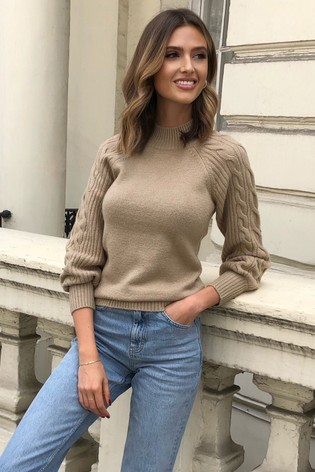Lipsy Cable Sleeve Detail Jumper
