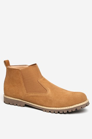 Threadbare Tan Faux Suede Chelsea Boot