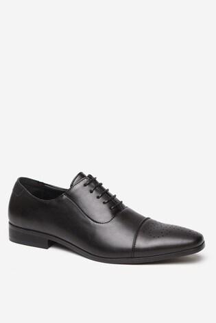 Threadbare Black Shoes Quarter Brogue