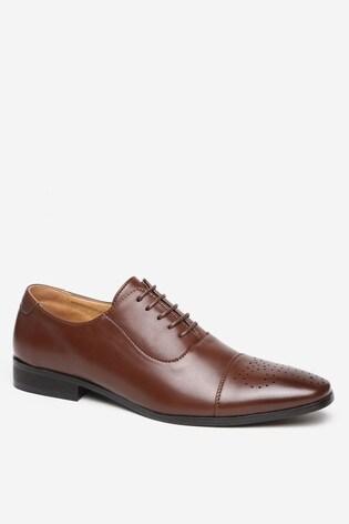 Threadbare Brown Shoes Quarter Brogue