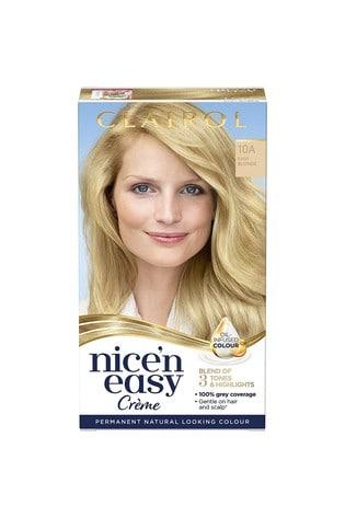 Clairol Nice' n Easy Crème, Natural Looking Oil Infused Permanent Hair Dye, 10A Baby Blonde 177 ml