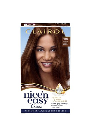 Clairol Nice' n Easy Crème, Natural Looking Oil Infused Permanent Hair Dye, 5RB Medium Reddish Brown 177 ml