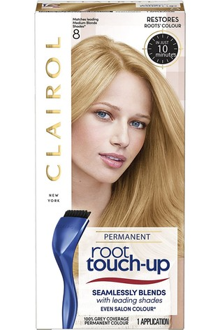 Clairol Root Touch-Up Permanent Hair Dye 8 Medium Blonde, Long-lasting Intensifying Colour with Full Coverage and Easy Application, 30 m