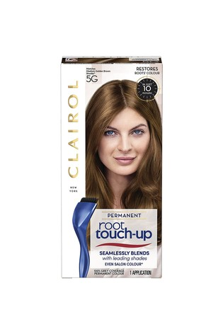 Clairol Root Touch-Up Permanent Hair Dye 5G Medium Golden Brown, Long-lasting Intensifying Colour with Full Coverage and Easy Applicatio