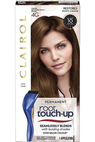 Clairol Root Touch-Up Permanent Hair Dye, 4G Dark Golden Brown, Long-lasting Intensifying Colour with Full Coverage and Easy Application