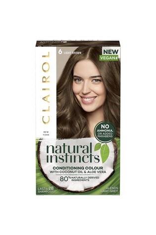 Clairol Natural Instincts Semi-Permanent No Ammonia Vegan Hair Dye, 6 Walnut/ Light Brown, 177ml