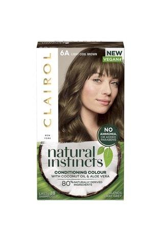 Clairol Natural Instincts Semi-Permanent No Ammonia Vegan Hair Dye, 6A Light Cool Brown, 177 ml