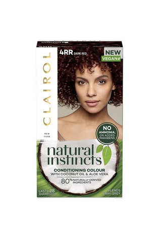 Clairol Natural Instincts Semi-Permanent No Ammonia Vegan Hair Dye, 4RR Dark Red, 177 ml