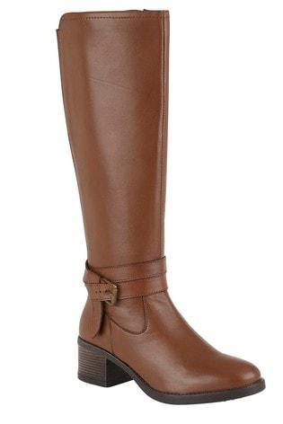 Lotus Footwear Brown Leather Knee High Boots