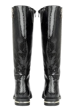 Lotus Footwear Black Knee High Boots