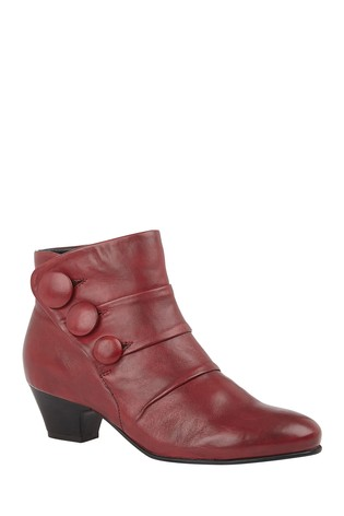 Lotus Red Footwear Leather Ankle Boots