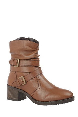 Lotus Footwear Brown Leather Ankle Boots