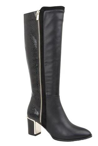 Lotus Footwear Black Knee High Boots