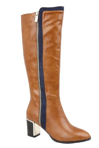 Lotus Footwear Brown Knee High Boots