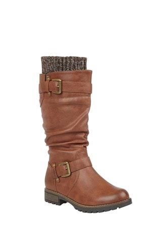 Lotus Footwear Brown Knee High Boots