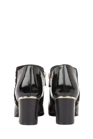 Lotus Footwear Black High Shine Shoe Boots