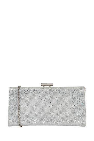 Lotus Footwear Silver Clutch Bag with Chain