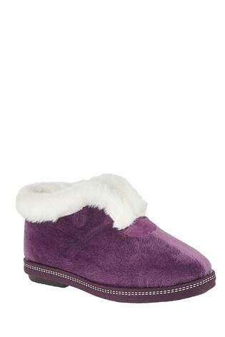 Lotus Footwear Purple Textile Slippers