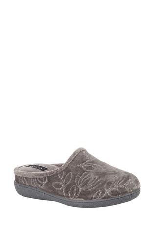 Lotus Footwear Grey Mule Slippers
