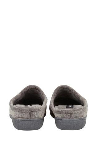 Lotus Grey Footwear Mule Slippers