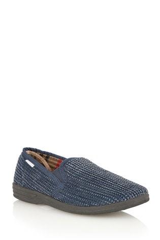 Lotus Footwear Navy Full Shoe Slippers