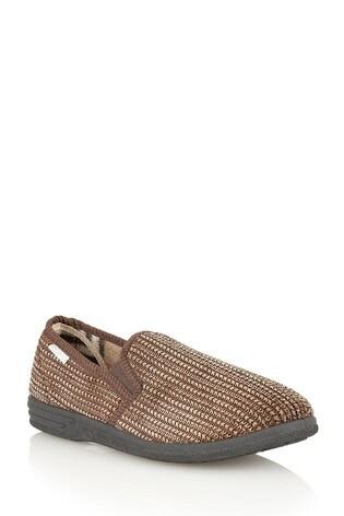 Lotus Footwear Brown Full Shoe Slippers