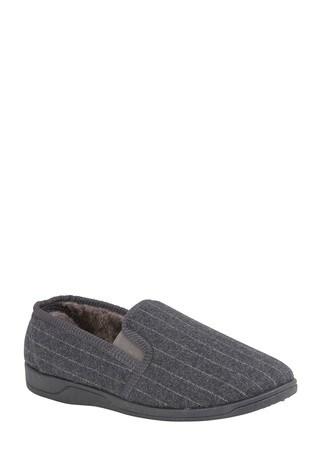 Lotus Footwear Grey Full Shoe Slippers