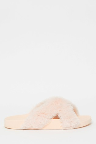 Lipsy Faux Fur Slipper
