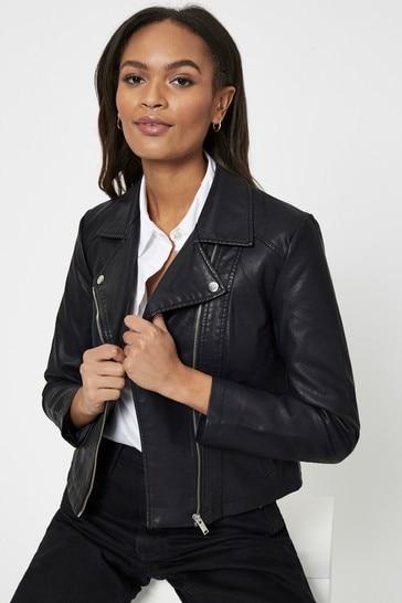 JDY Black Faux Leather Jacket