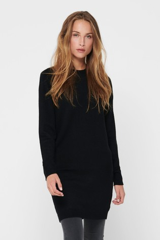 JDY Black Round Neck Knitted Dress