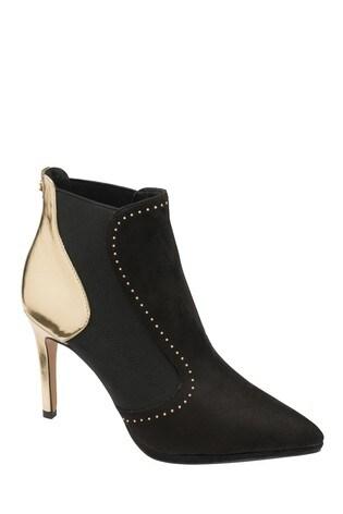 Ravel Black Stiletto Heel Boots