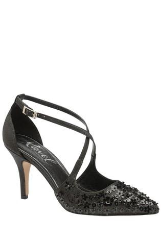 Ravel Black Sparkle Court Shoes