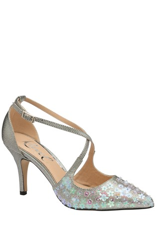 Ravel Silver Sparkle Court Shoes
