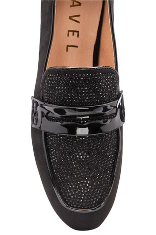 Ravel Black Printed Loafers