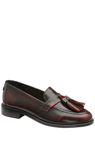 Ravel Burgundy Leather Loafers